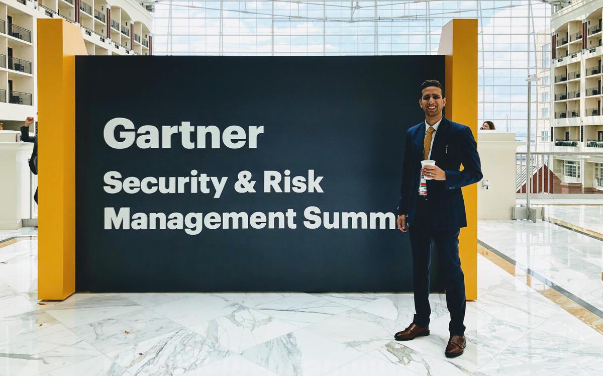 Sid Gandhi speaking at Gartner Security & Risk Summit