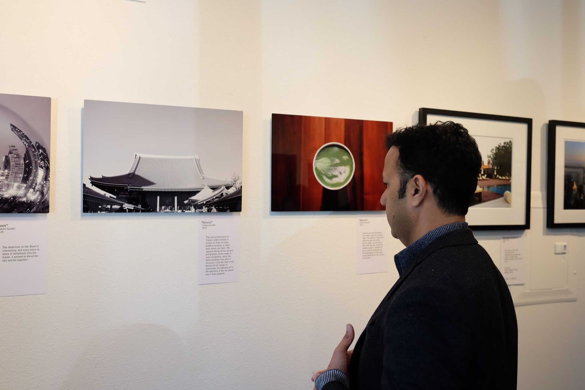 Sid Gandhi's photography in a gallery