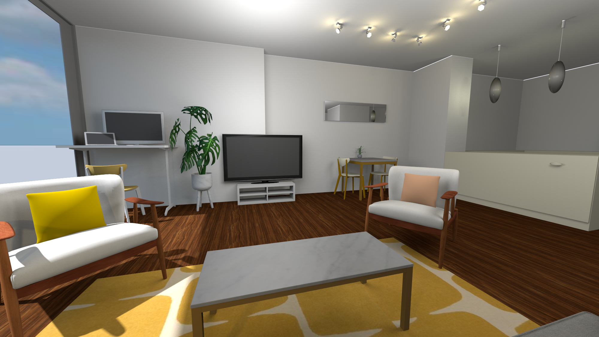 Example render from Sweet Home 3D